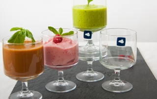 Leonardo Gläser Pila mit Smoothie, Suppe und Eis