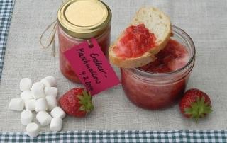 klassische Marmelade mal anders, Einkochen, selbstgemacht, Erdbeermarmelade mit Marshmallowcreme, Carl Tode Göttingen