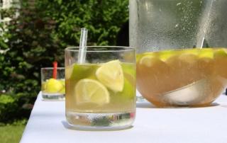 Alkoholfreier Caipirinha, erfischend und lecker, mit Ginger Ale, auch für Kinder