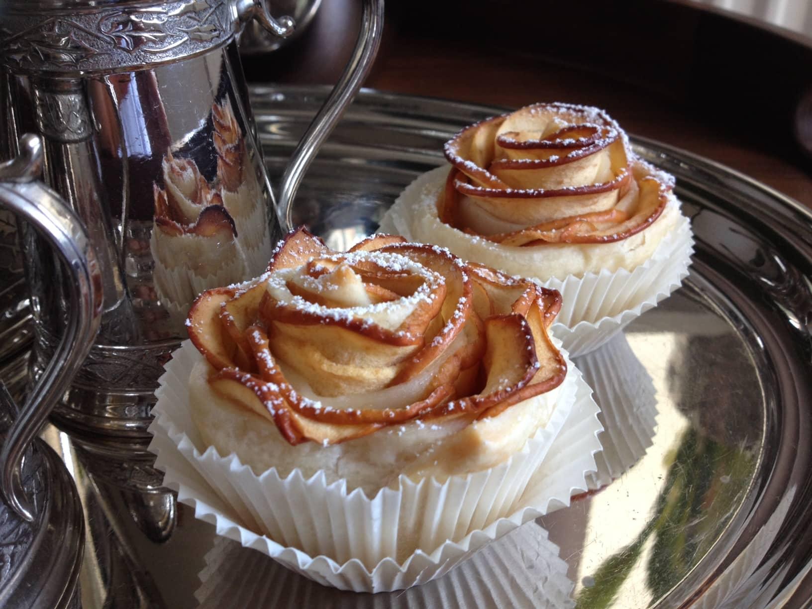 Kaffee, Tee, Apfelrosen, Muffins, backen, lecker, Blätterteig, Oho, Carl tode, Göttingen