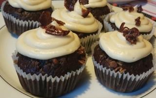 Außergewöhnliche Cupcakes mit Schokolade und Bacon, Ahornsirup, Carl Tode Göttingen
