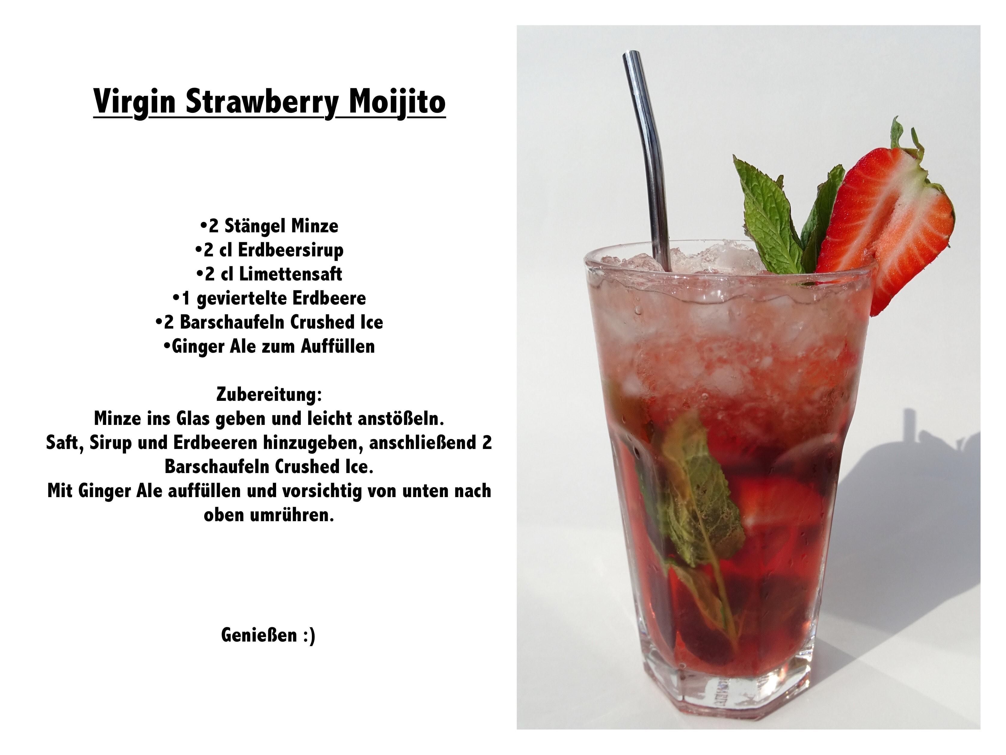 Alkoholfreie Mixgetränke mit Erdbeere - Carl Tode Göttingen