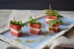 Finger Food, Wassermelone, Feta, Carl Tode Göttingen, Buffet, Spieße, Rezept