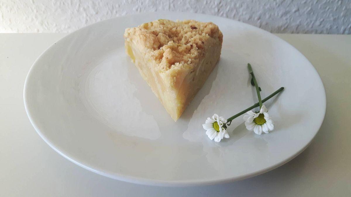 Apfelkuchen, Kuchen mit Apfel, mit Streuseln, Carl Tode Göttingen