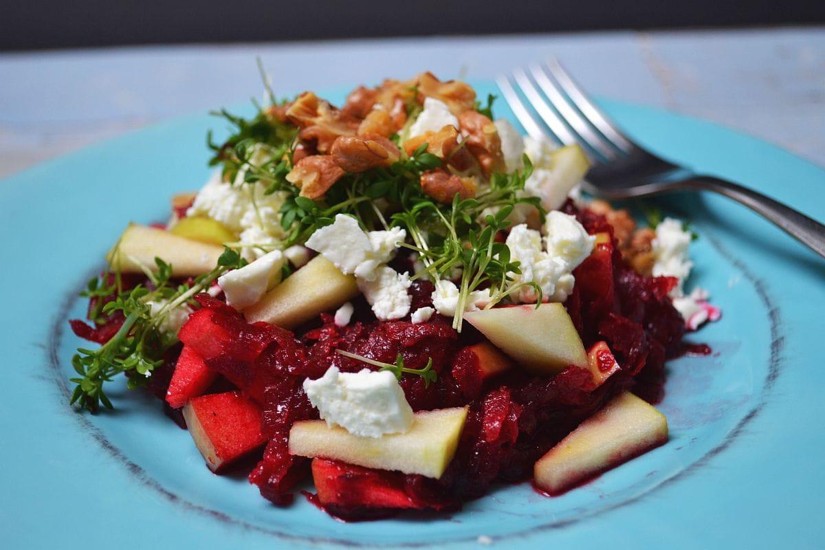 Rezept, Rote Bete, Salat, roh verarbeitet, Carl Tode Göttingen