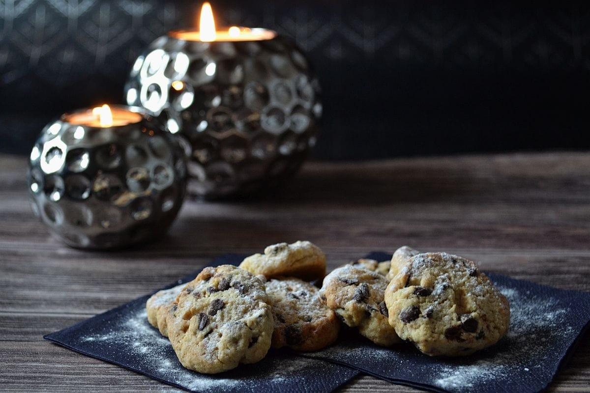 Weihnachtsplätzchen Mit Schokolade.Kekse Mit Schokolade Und Orange
