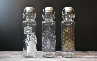 Trinkflaschen Glas, Bügelverschluss, Souldbottles, Glasflaschen, Wasserflaschen, Carl Tode Göttingen
