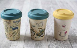 Bamboo Cups von Chicmic bei Carl Tode Göttingen, umweltfreundlich un nachhaltig, verschiedene Designs, Bambus, Coffee to go