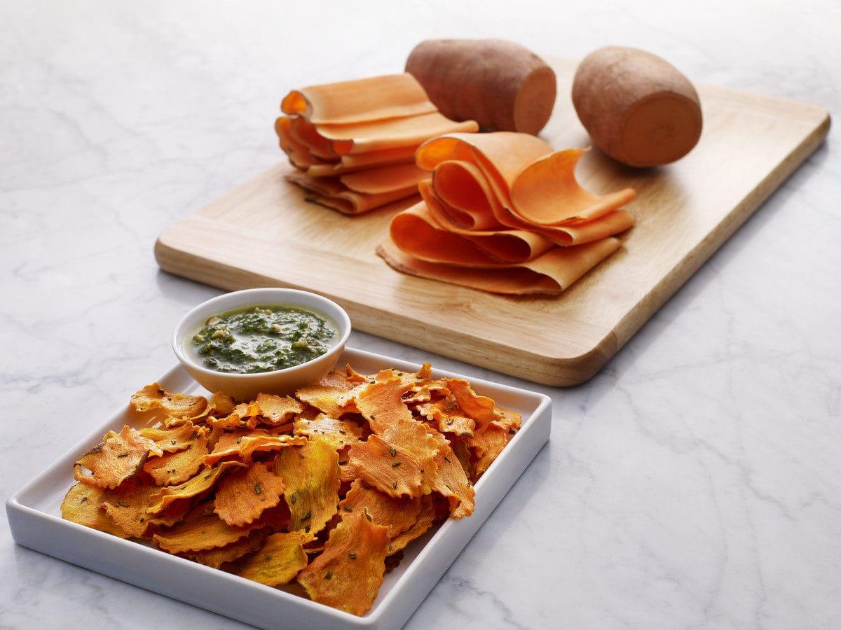 Süßkartoffel, Chips, KitchenAid, Veggie-Slicer, Gemüseblattschneider, Carl Tode, Göttingen