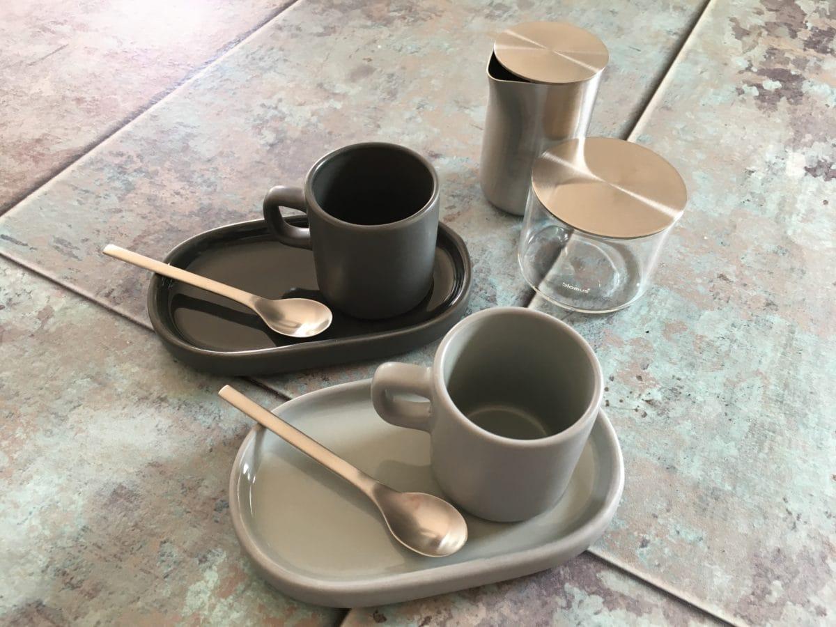 Blomus, Mio, Espressotassen, Espresso, Pure Signs, Basic, Milchkännchen, Zuckerdose, Design, Carl Tode, Göttingen