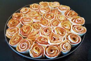 saurer Apfel, Blätterteig, Zimt und Zucker