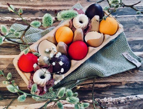 Eier färben mit den Lebensmittelfarben von Städter