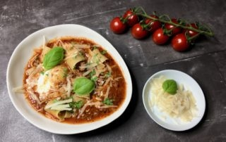 Lasagnesuppe, Suppe, Lasagne, Bolognese, Nudeln, Parmesan, Neuinterpretation, kochen, Rezept, Carl Tode, Göttingen
