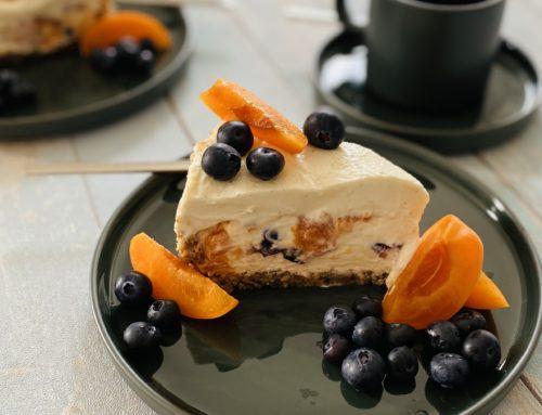 No-Bake-Cheesecake mit Obst