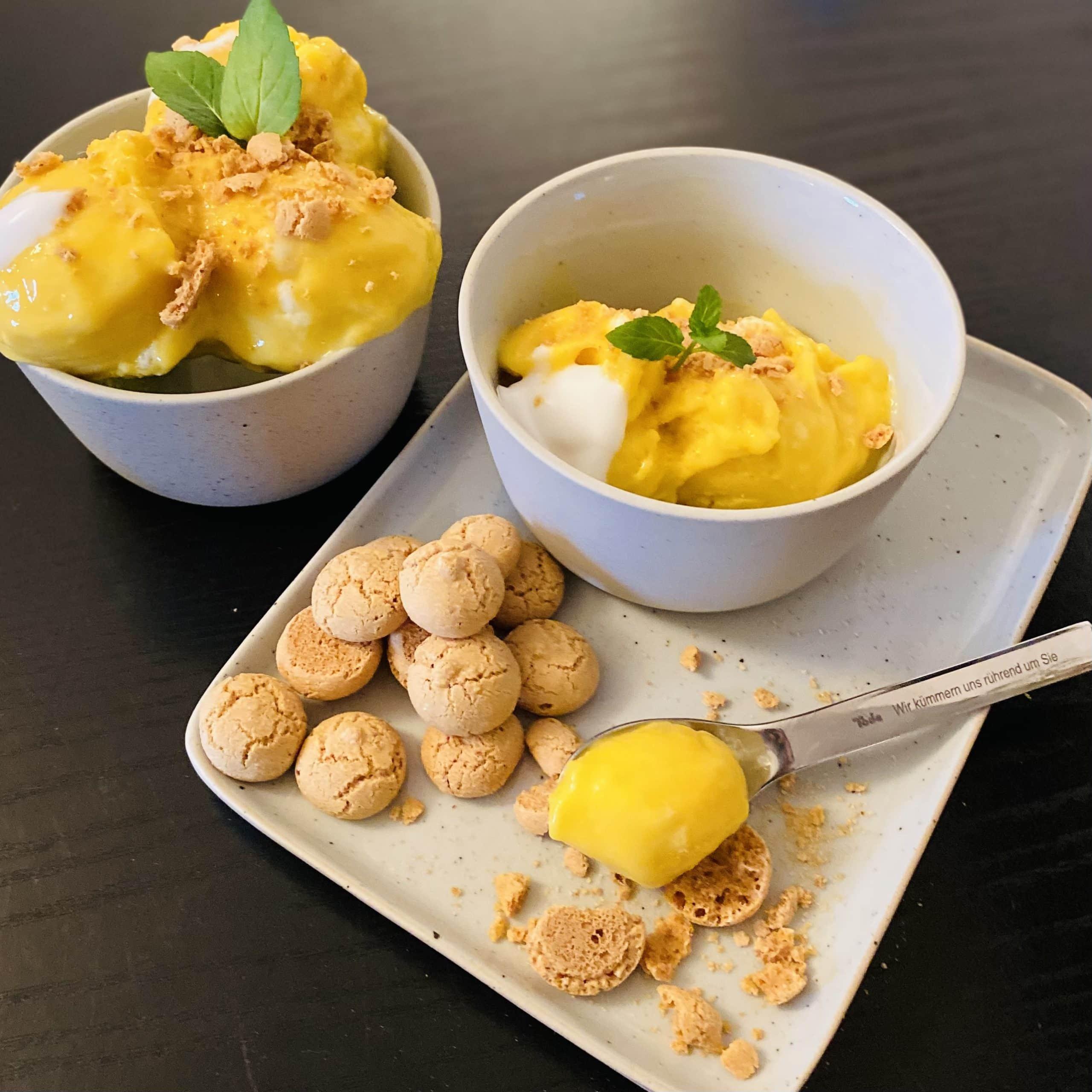 Mango Eis Rezept für den Blog